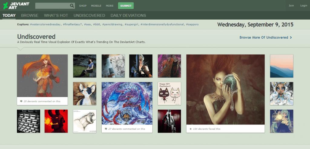 DeviantArt online art gallery