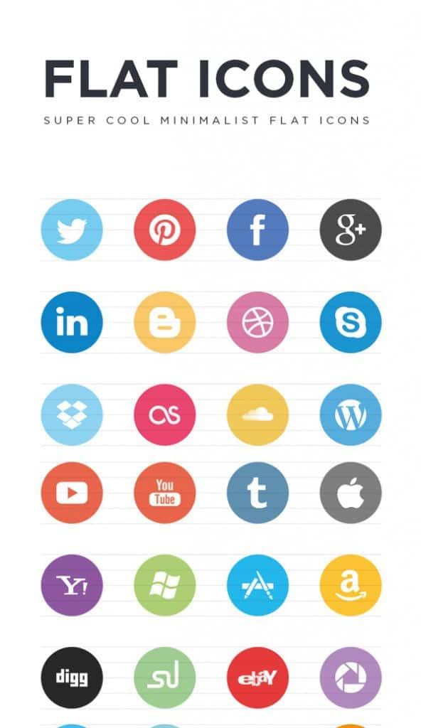 FREE Flat Social Icons EPS