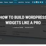 How To Build WordPress Widgets Like A Pro