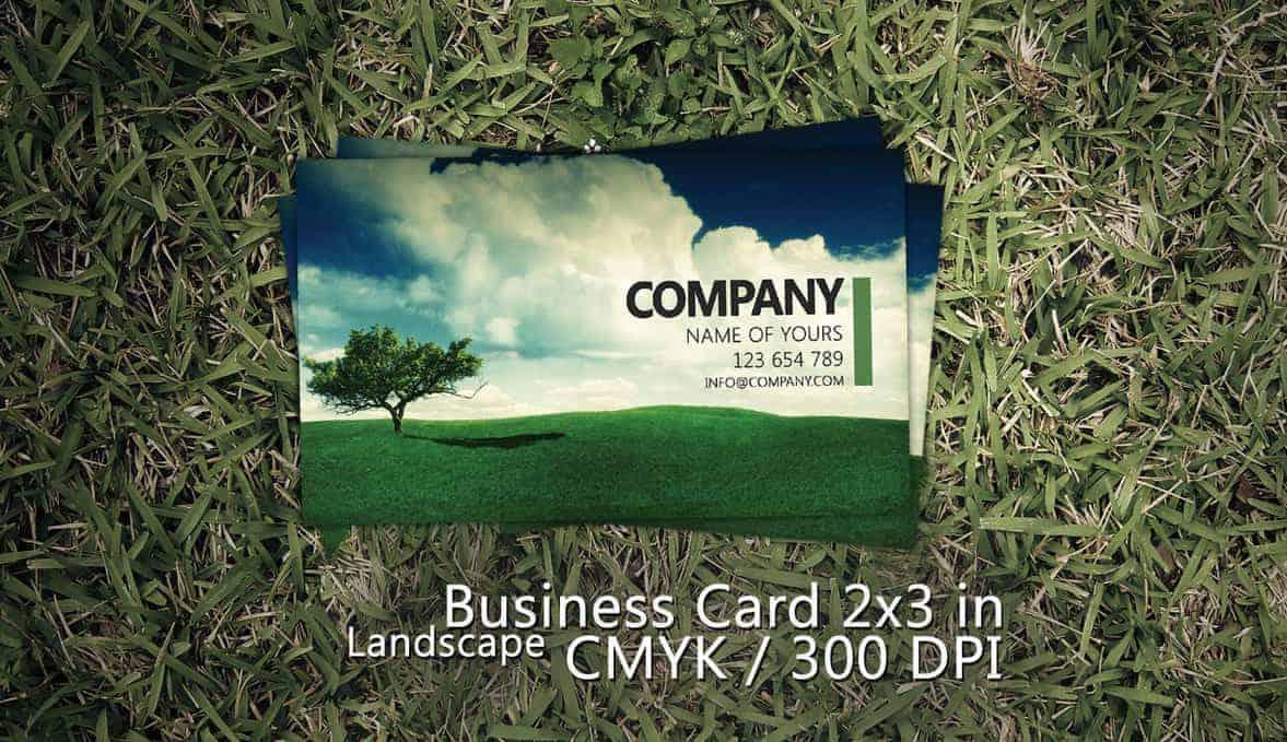 Landscape Business Card PSD