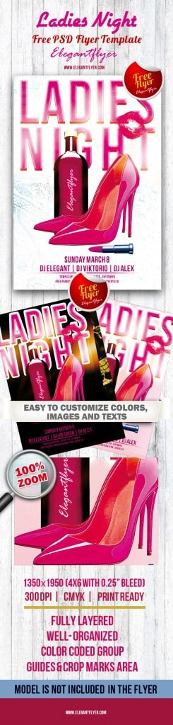 Ledies Night Flyer PSD Template