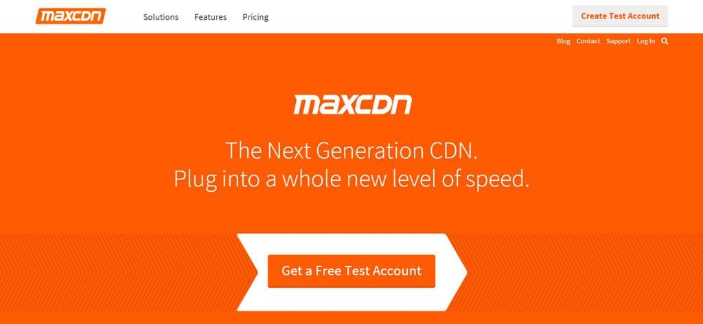 MaxCDN Homepage