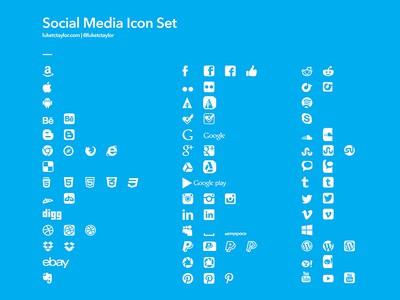 Plain Social Media Icons