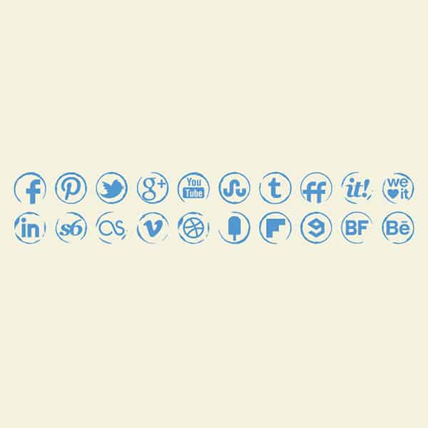 SKETCH VECTOR STAMP ICONS SET