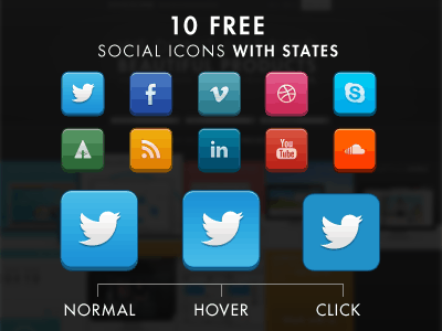 Social Icons with States