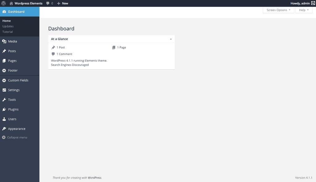Tamed Admin WordPress theme