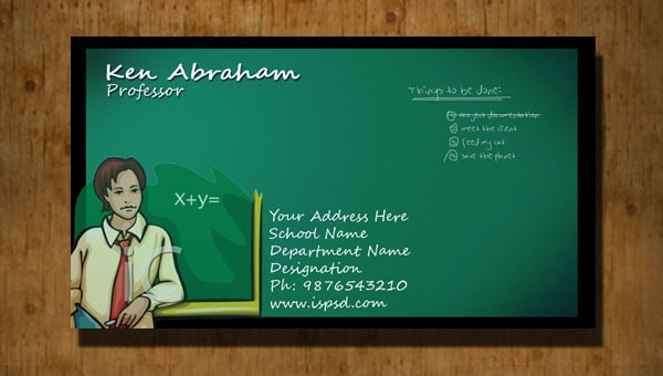 Teacher Business Card PSD