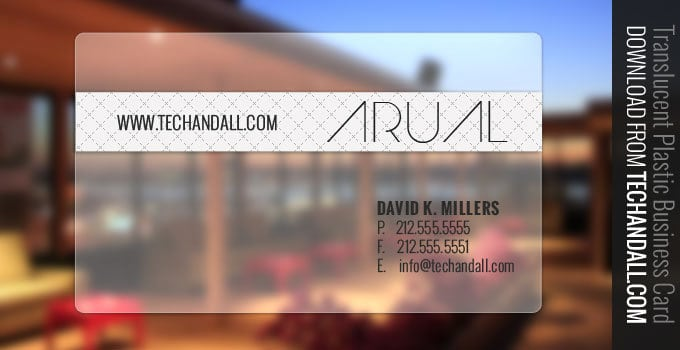 Translucent Plastic Business Card PSD