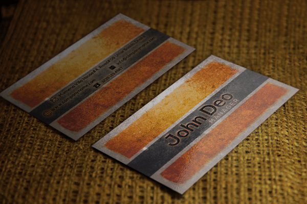 antique styled free business card template