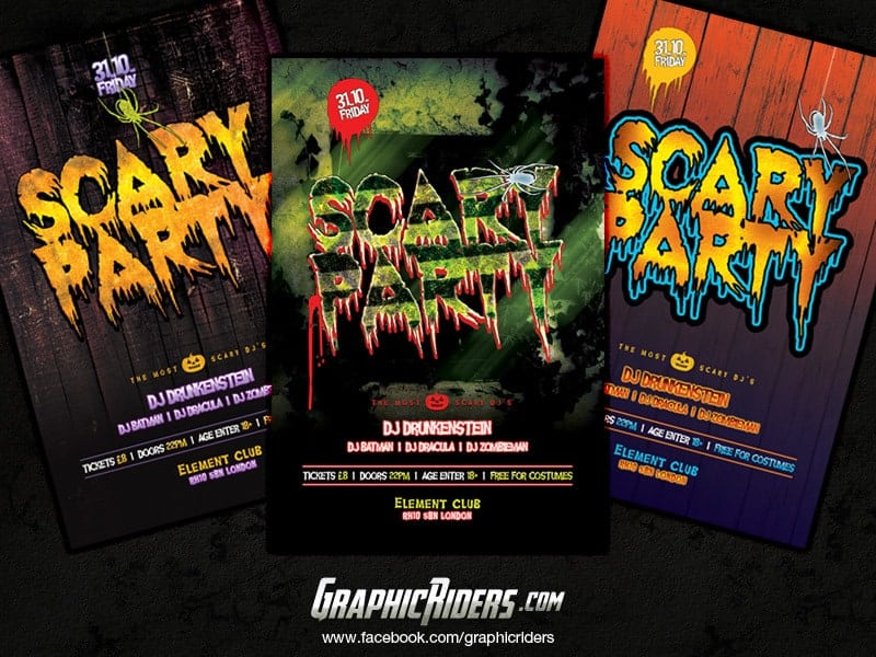 halloween party flyers template