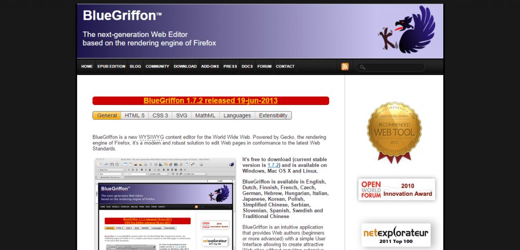 BlueGriffon Web Editor