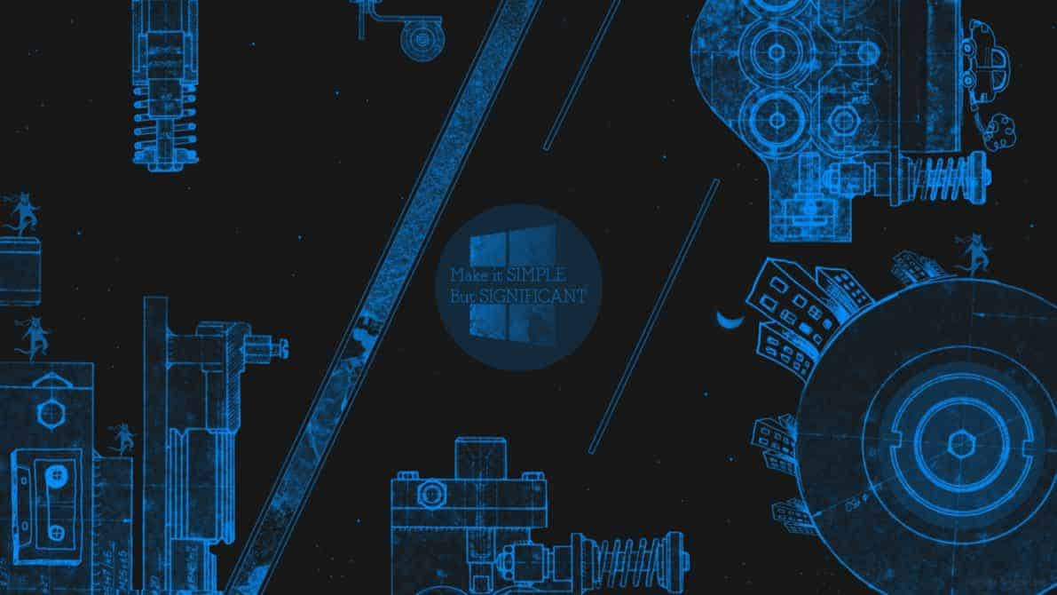 Blueprint tech Wallpaper