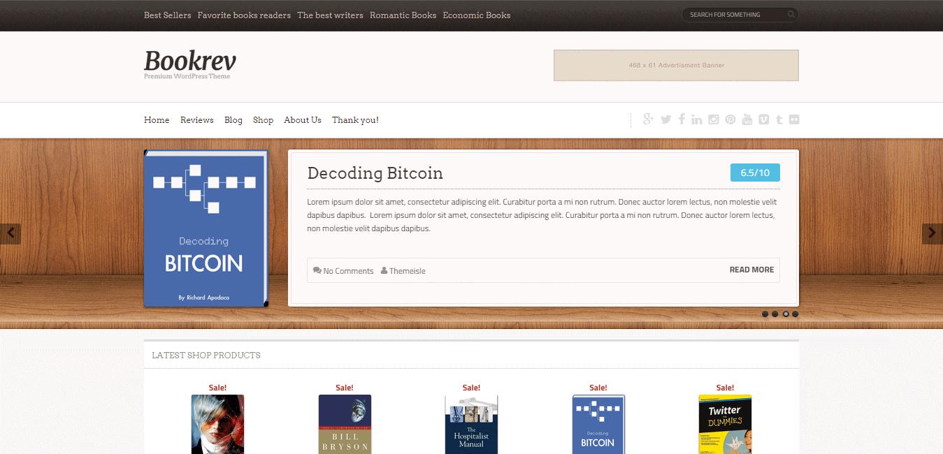 Bookrev WordPress Theme by Themeisle