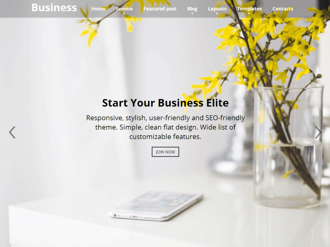 Business Elite Web Dorado WordPress theme