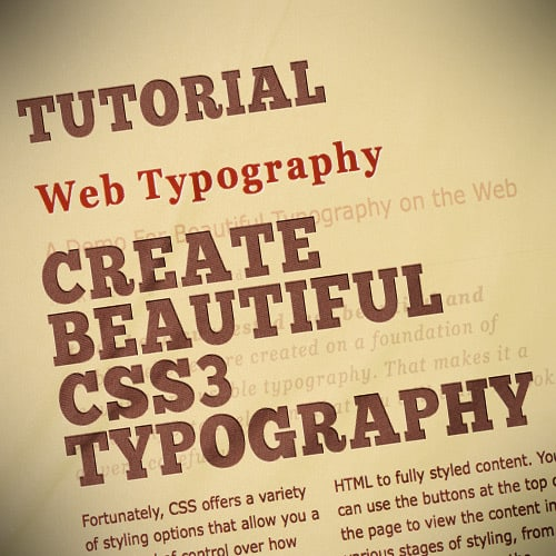Create Beautiful CSS3 Typography