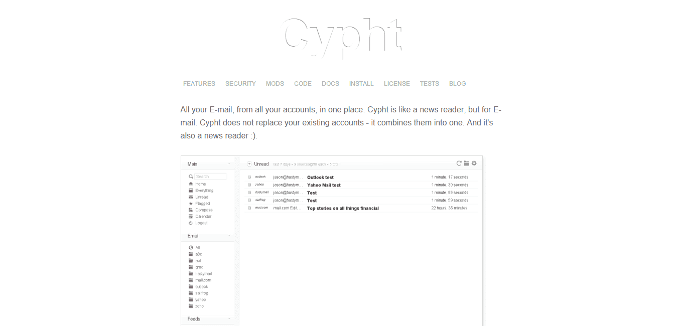 Cypht Webmail solution