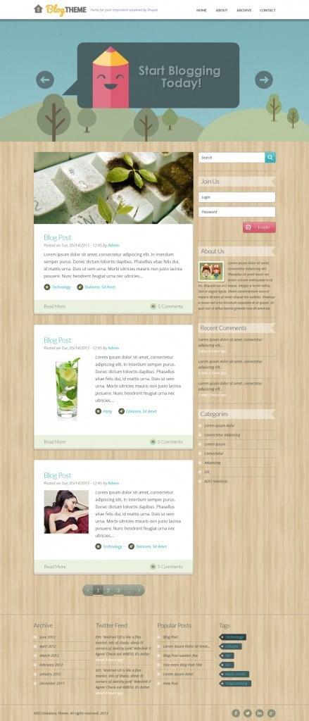 Drupal Personal blog theme