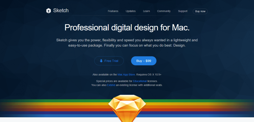Graphics desig for mac Sketch 3