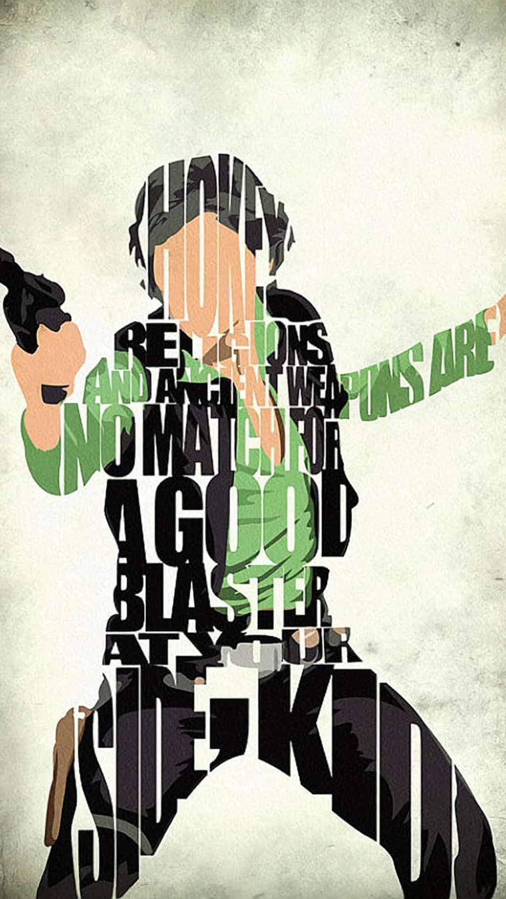 Han Solo Typography Wallpaper iphone