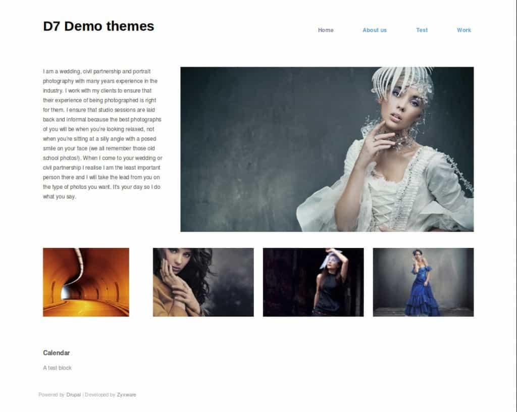 Hatch theme minimal portfolio theme