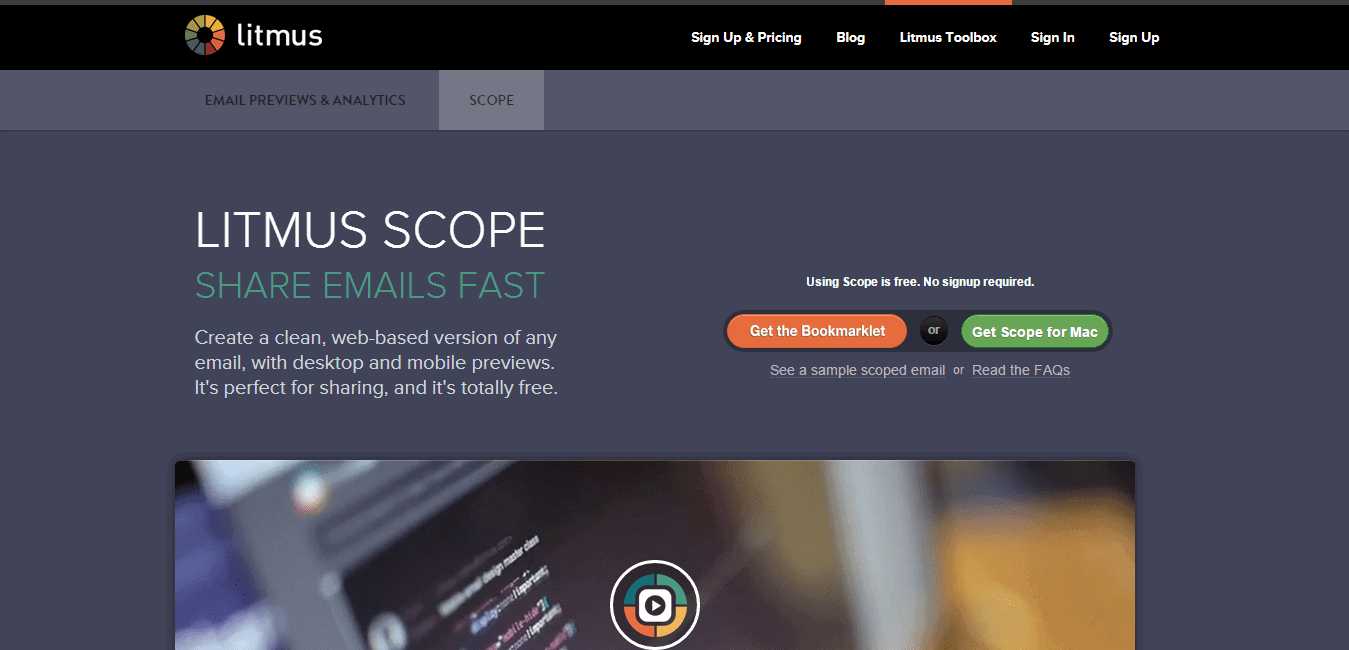Litmus Scope Webmail