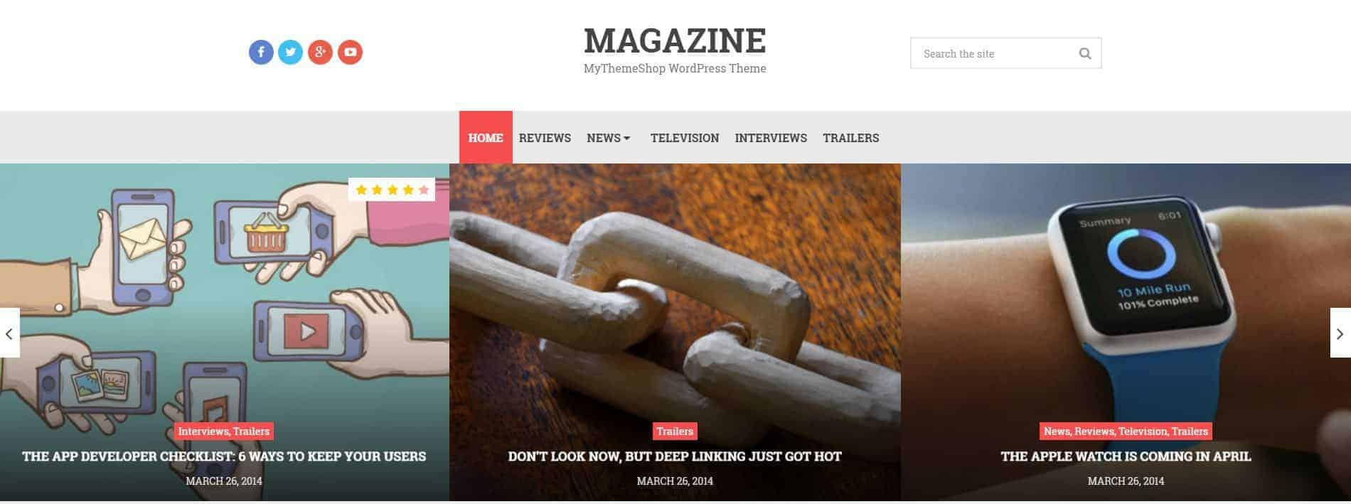 Magazine MyThemeShop WordPress Theme
