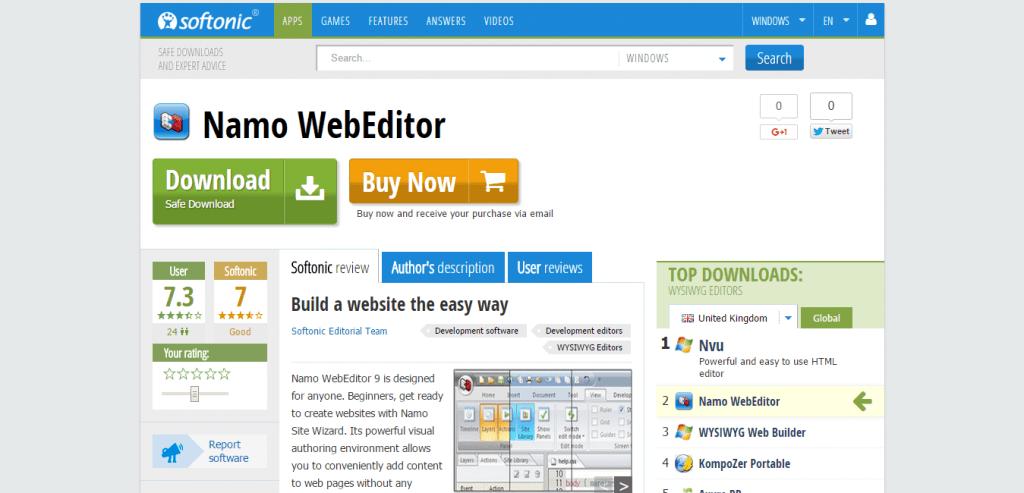 Namo WebEditor Download