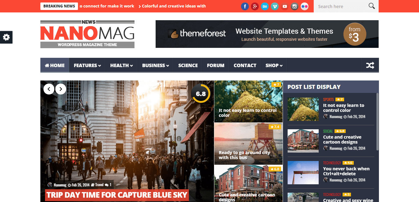 NanoMag WordPress Theme