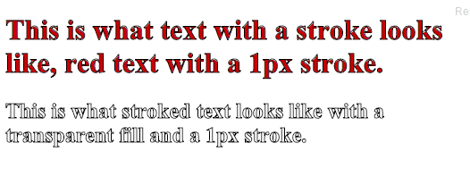 Outline Text using CSS3 Text Stroke Property