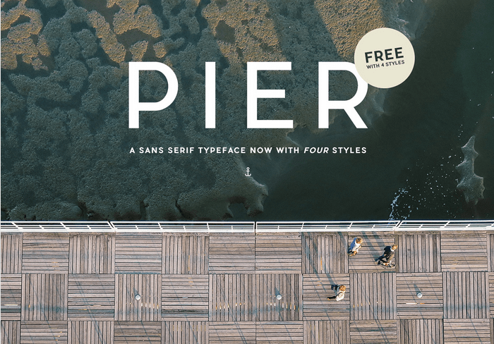 PIER SANS FREE TYPEFACE