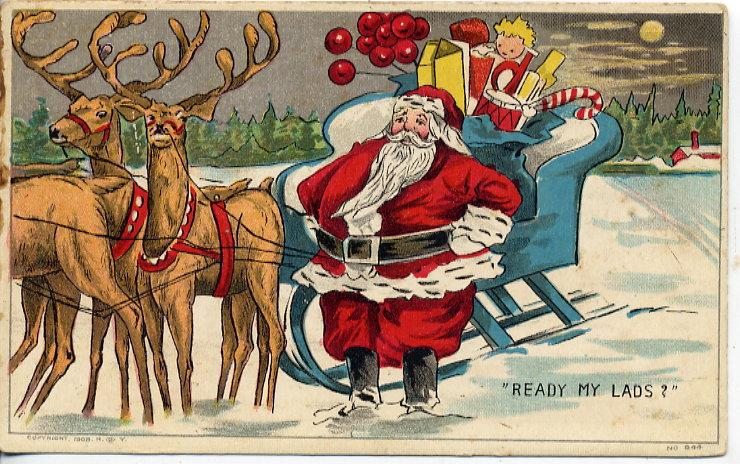 Santa Claus Vintage Free Wallpaper