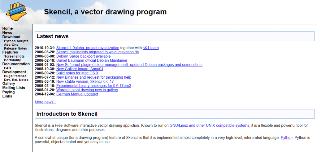 Skencil vector drawing program
