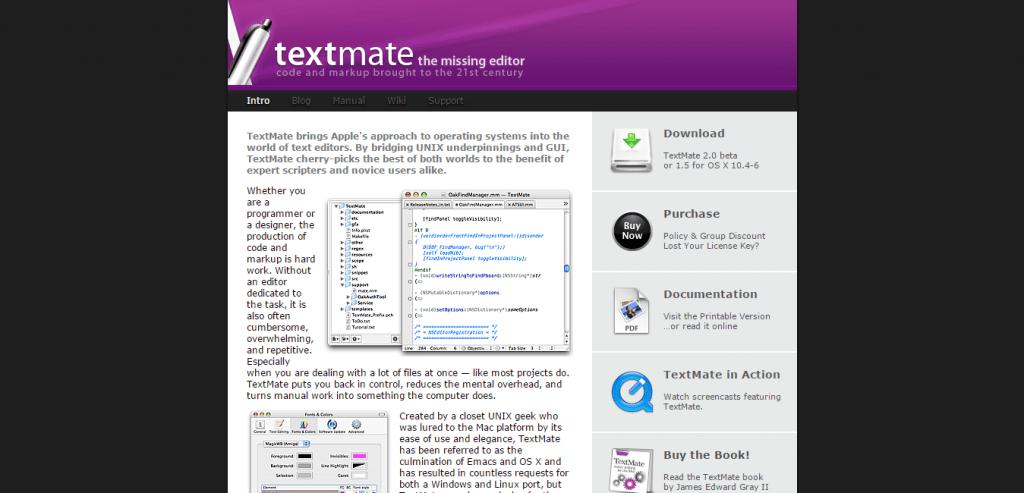 TextMate Editor for Mac OS X