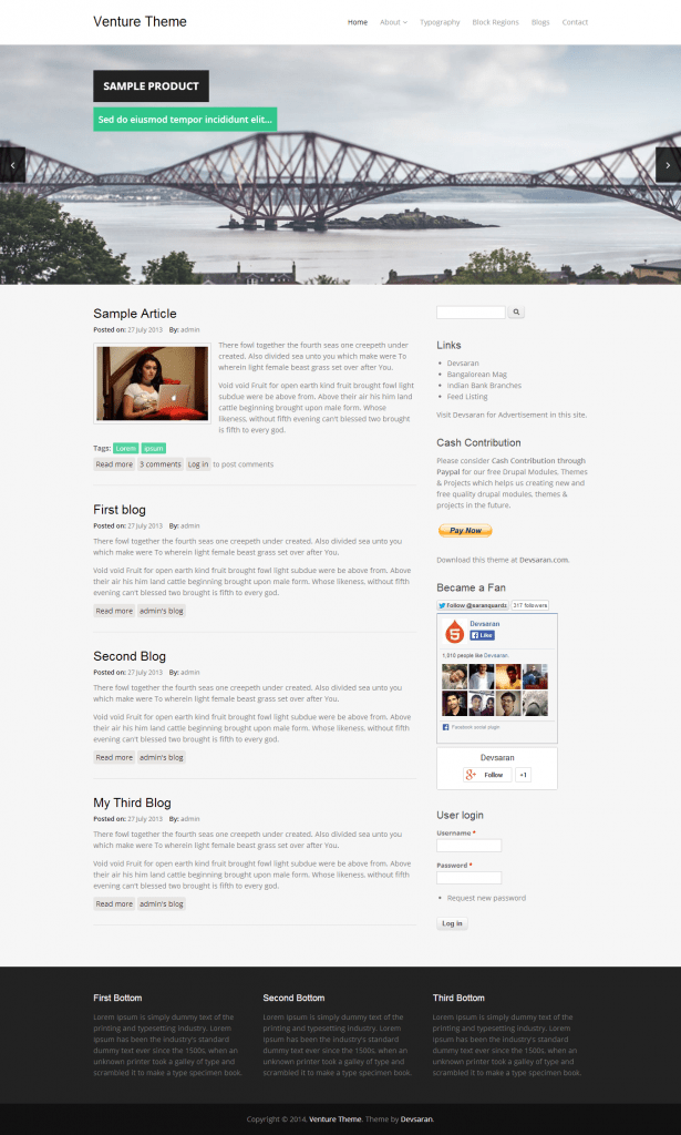 Venture business theme