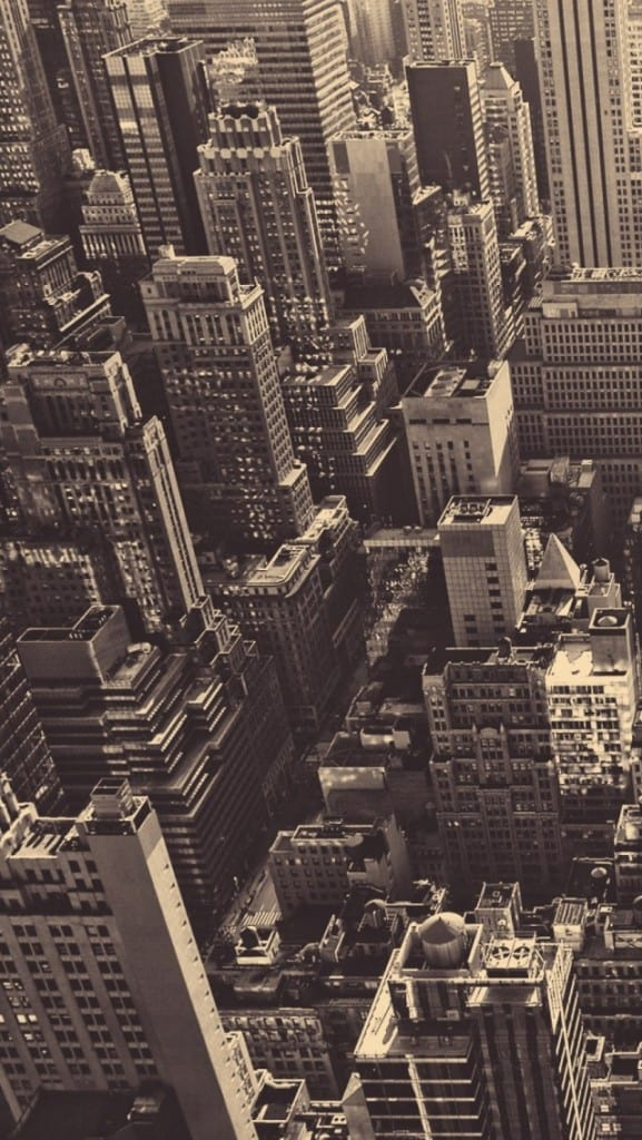 Vintage New York City Aerial View iPhone 5 Wallpaper