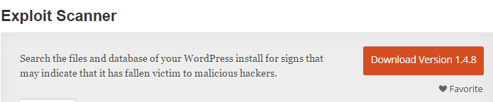 WordPress Exploit Scanner Plugin