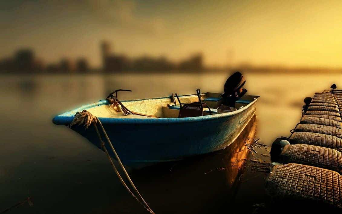 calm boat wallpaper