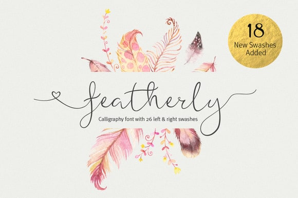 featherly wedding font