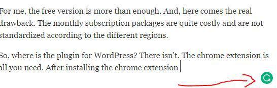 grammarly-working-under-wordpress