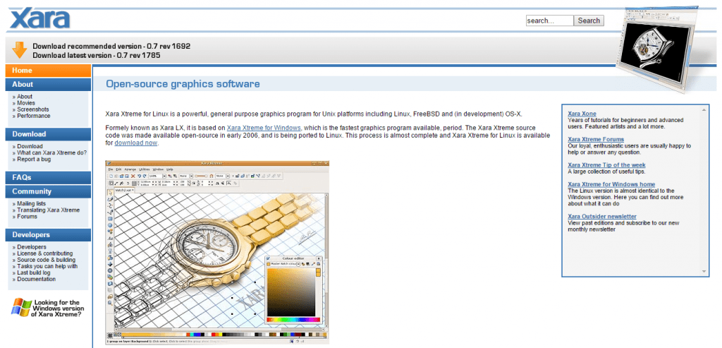 xara graphics software