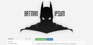 Batman Ipsum