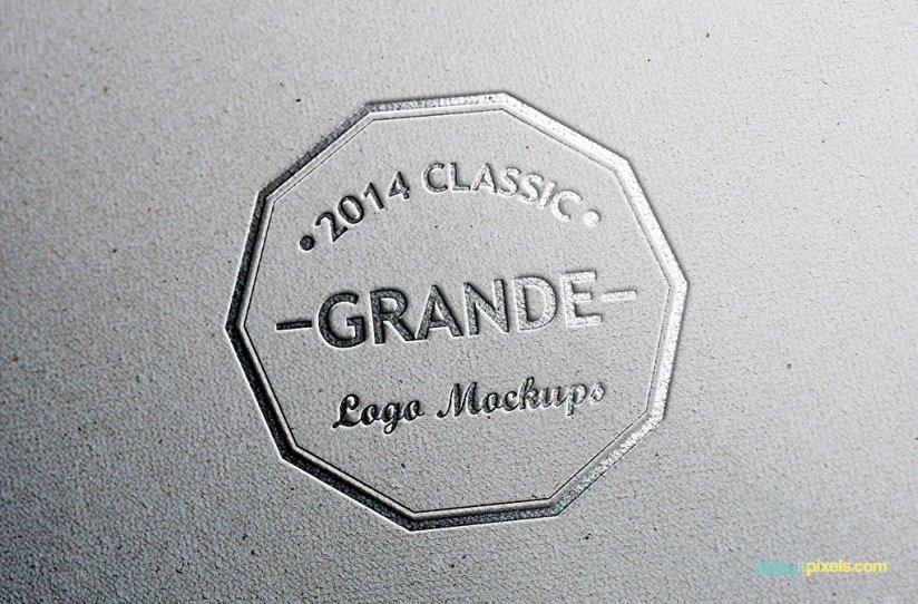 Free Photorealistic Leather Logo Mockups