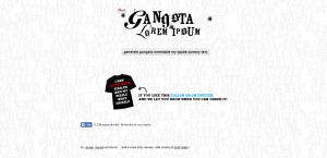 Gangsta Lorem Ipsum dummy text generator