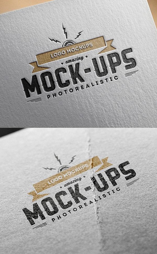 Logo MockUp Paper Edition