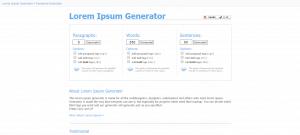 One Click Lorem Ipsum Generator