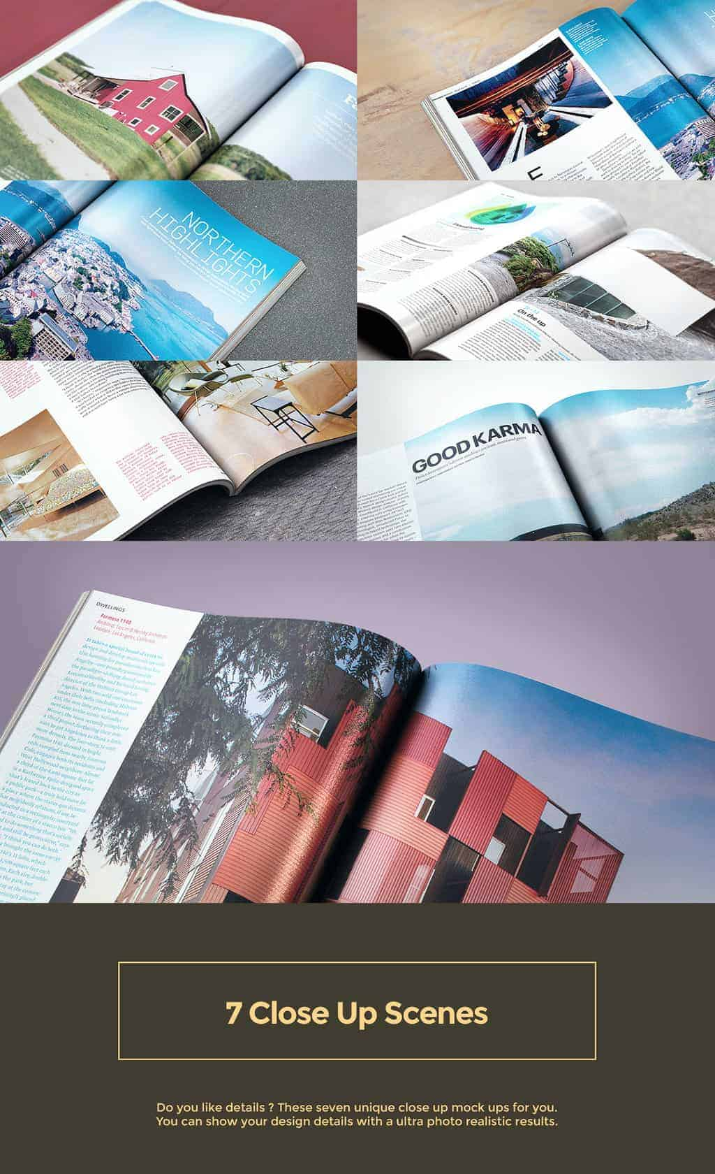 7 Scene Magazine Mock Up Pack