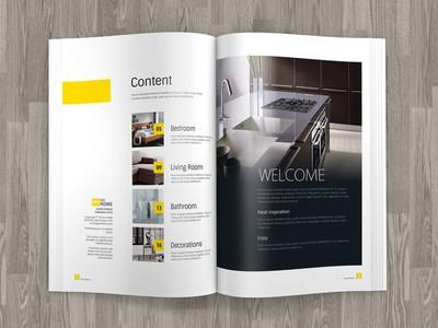 A4 Brochure Mock up