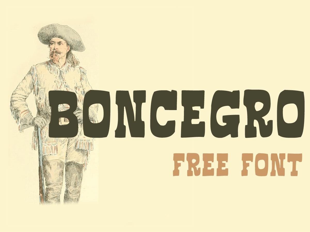 Boncegro FF font