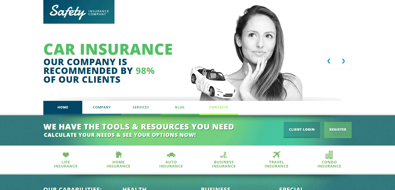 Car insurance company Template