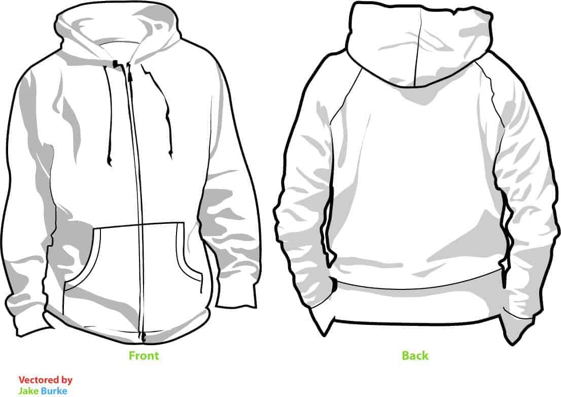 Cartoon Hoodie Template